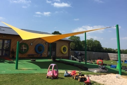 Canopy we fitted at NOA's Ark Nursery