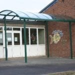 Shelter we fitted at Oswestry Infants School