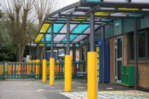 Shelter we designed for Oundle School