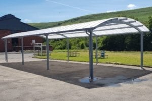Canopy we installed at Rhymney School