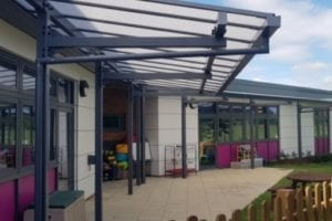 Canopy we installed at Roman Way School