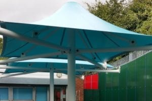 Canopy fitted at Ryders Green School