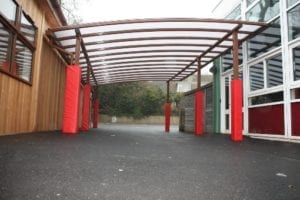 Canopy fitted at St Bartholmews School