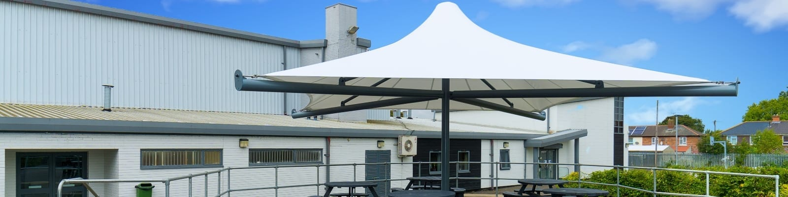 St Lawrence Academy Umbrella Canopy