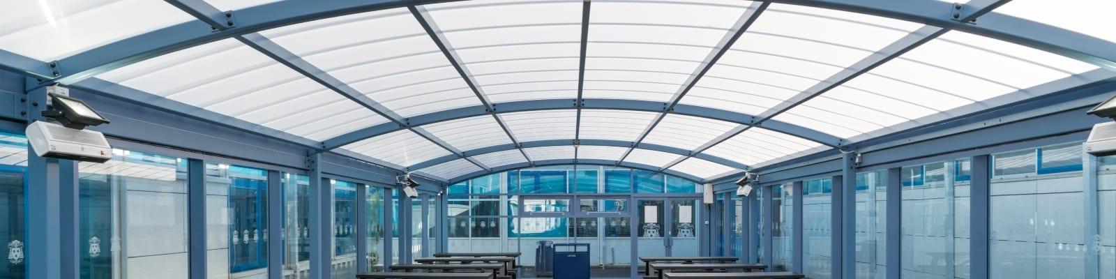 St Wilfrid's High School Enclosed Canopy