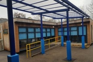 Canopy installed at Sycamore Academy