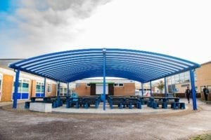 Canopy we installed at Tewkesbury School