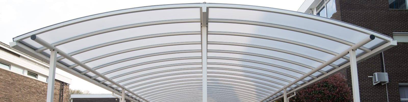 The Coopers and Coburn White Curved Roof Shelter