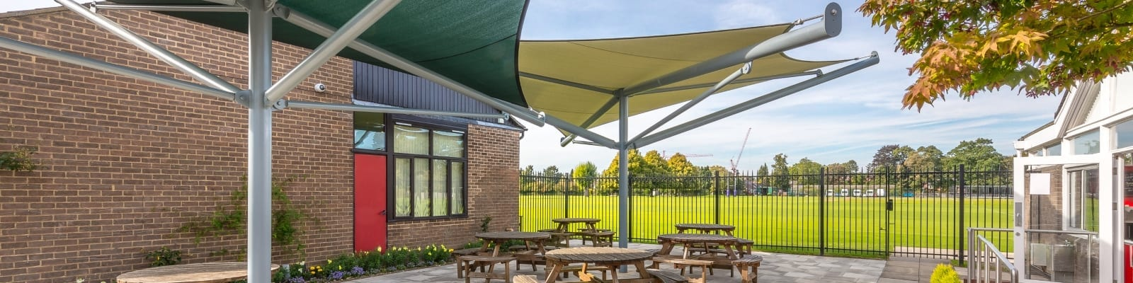The Perse School Green Shade Sails