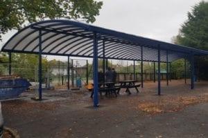 Shelter we designed for Warlingham School