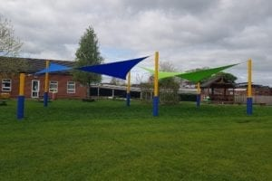Sails we installed at Wistaston Church Lane