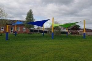 Sails we installed at Wistaston Church Lane