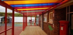Shelter we fitted at Al Furqan Primary School