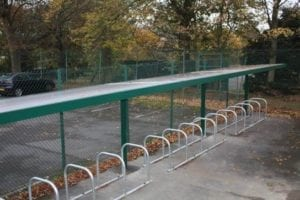 Cycle Shelter we designed for Ashby School