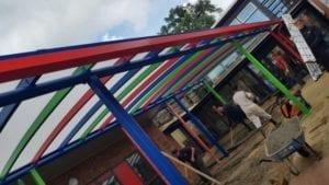 Shelter we designed for Bevendean School