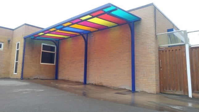 Billing Brook School Colourful Canopy