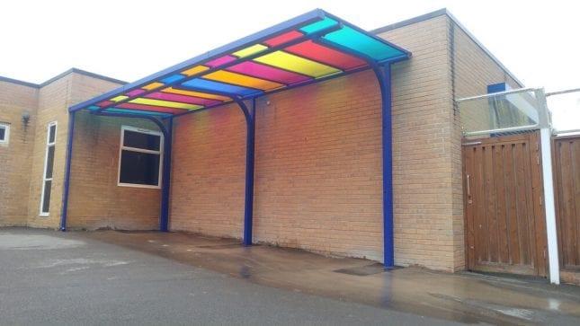 Billing Brook School Colourful Canopy