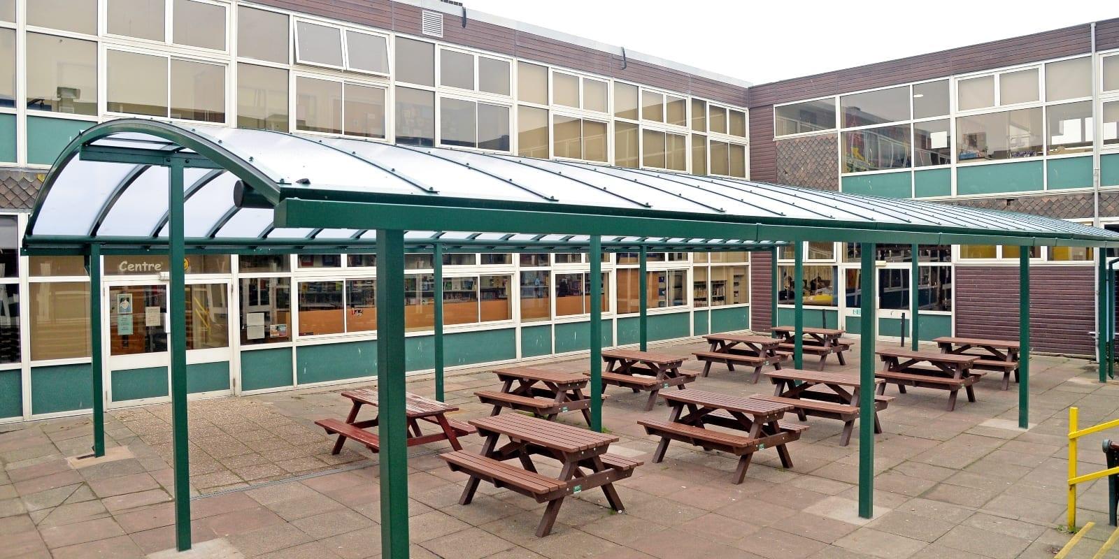 Rushcliffe School Dining Canopy