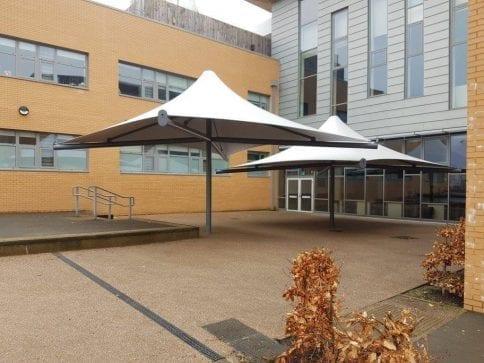 Ebbw Fawr Learning Community Umbrella Canopies