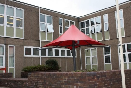 Edgecliff High School Fabric Umbrella Canopy