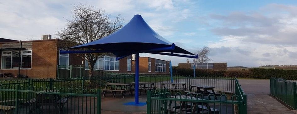 Ludlow Junior School Umbrella Canopy