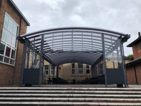 Lymm High School Curved Roof Canopy
