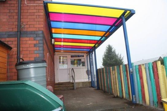 Maes y Llan Colourful Canopy