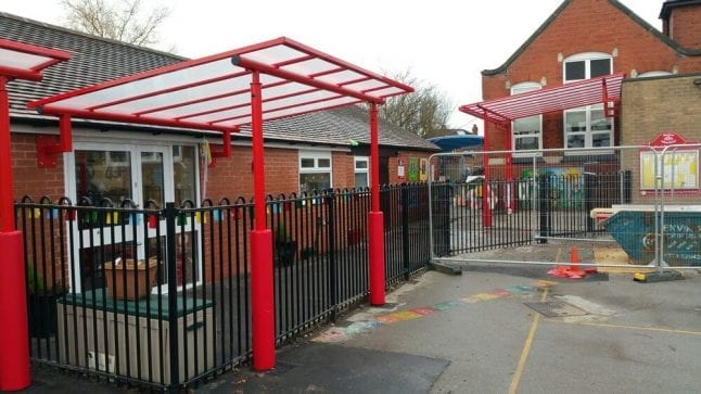 Shelter we fitted at May Bank Primary School