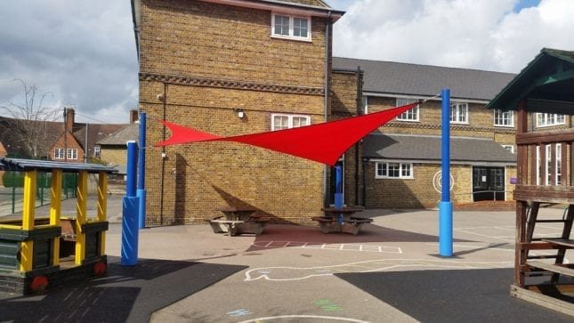 Old Oak Primary School Red Canopy