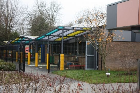Oundle Primary School Colourful Canopies
