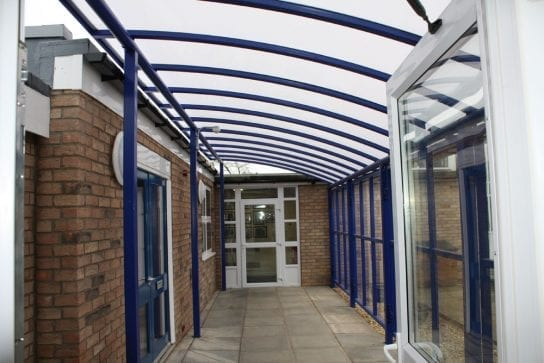Canopy we designed for Pinchbeck East School