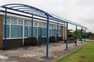Shelter we installed at Old Dalby School