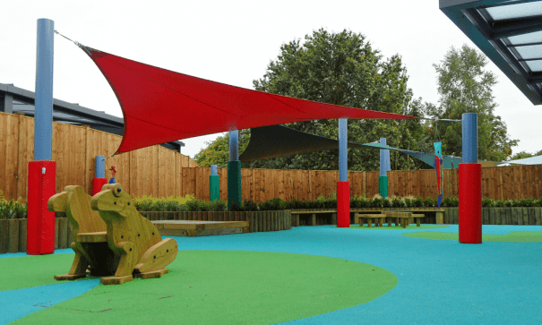 Red Playground Shade Sail