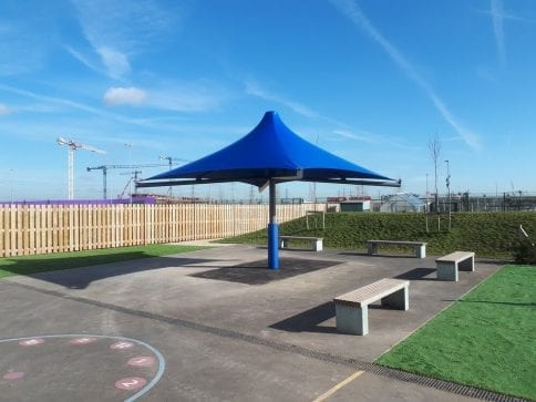 Riverside Bridge School Umbrella Canopy