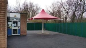 Ryders Green School Red Canopy