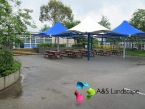 Selston High School Umbrella Canopies