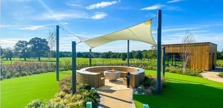 Shade sail we installed at Carden Park Hotel and Spa