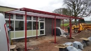 Shelter installed at Shifnal Primary School