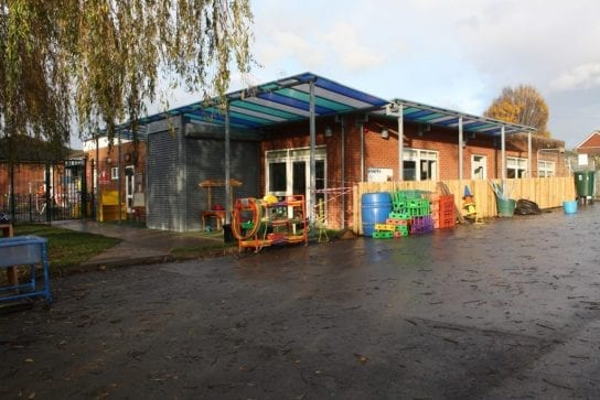 St Bedes RC Primary School Shelter