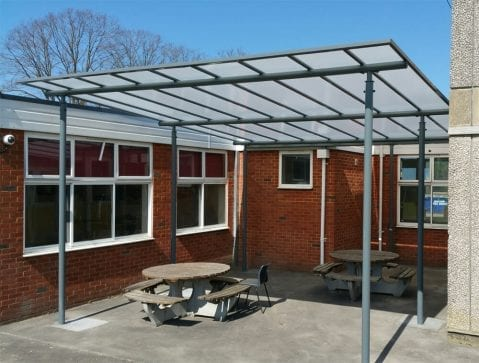 Shelter we added to St Crispins School