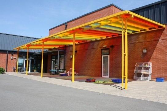 Shelter we fitted at St Edburg's School