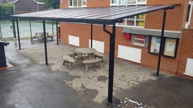 Shelter we installed at St Hilda's School