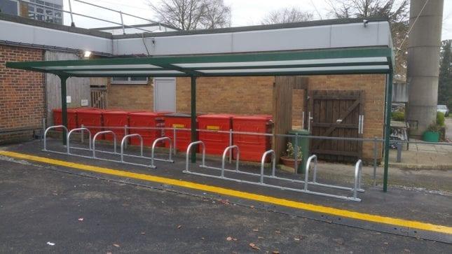 St Josephs Catholic School Cycle Shelter