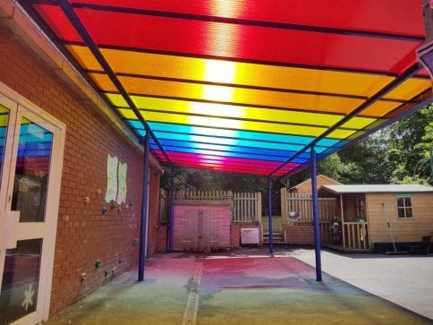 Shelter we fitted at St Lawrence Primary School