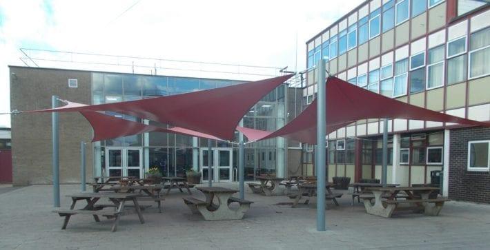 The Bulmershe School Shade Sails