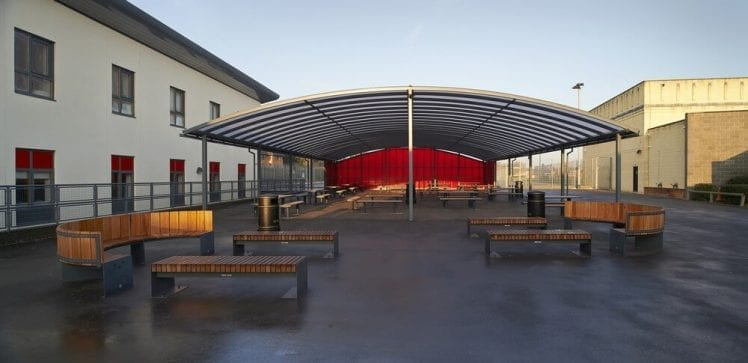 The Gilberd School Curved Roof Canopy