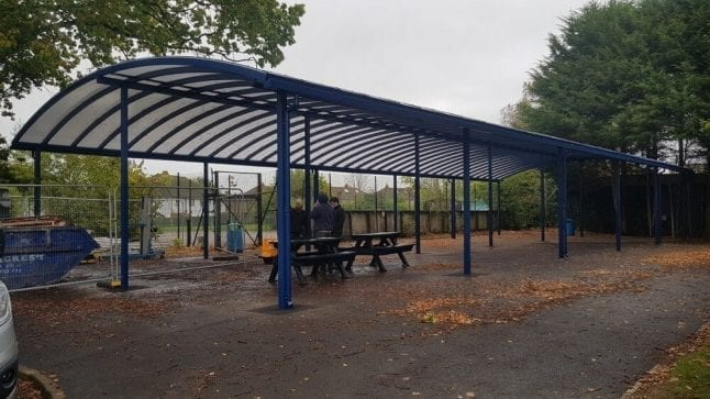 Warlingham School Curved Roof Canopy