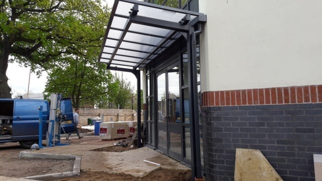 Willowbrook Carehome Entrance Canopy