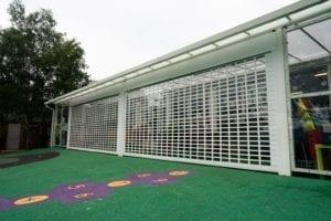 Shelter we designed for Harefield School