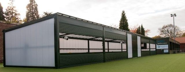 Bespoke canopy we designed for Archery GB